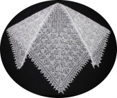 Down shawl 150x115x115 sm (K240)